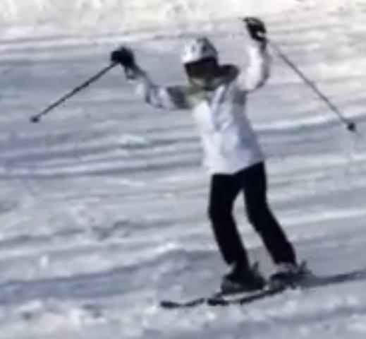 Cindy Skiing Killington
